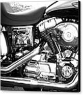 Motorcycle Close-up Bw 3 Canvas Print