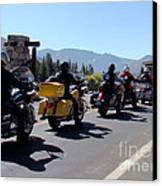 Motorcycle Row Canvas Print