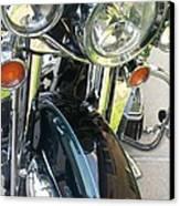 Motorcyle Classic Headlight Canvas Print
