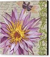 Moulin Floral 1 Canvas Print by Debbie DeWitt