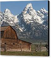 Moulton Barn - Grand Tetons I Canvas Print by Sandra Bronstein