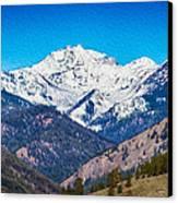 Mount Gardner Close Up Canvas Print by Omaste Witkowski