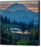 Mount Rainier Layers Canvas Print by Mike Reid