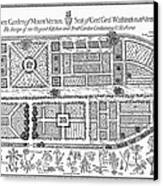 Mount Vernon: Garden Canvas Print by Granger