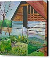 Mountain Barn Canvas Print