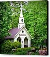 Mountain Chapel Canvas Print by Crystal Joy Photography