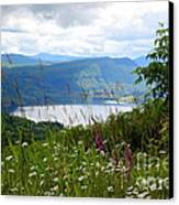 Mountain Lake Viewpoint Canvas Print by Carol Groenen