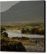 Mountain Meet Water Canvas Print by Anthony Bean