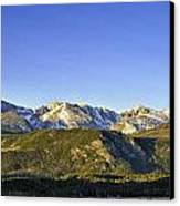 Mountain Panorama Canvas Print by Tom Wilbert