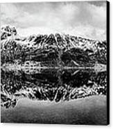 Mountain Reflection Canvas Print by Dave Bowman
