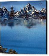Mountain Ridge Horizon Canvas Print by Cynthia Adams
