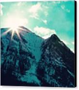 Mountain Starburst Canvas Print