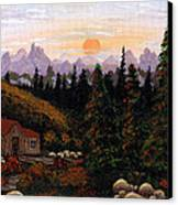 Mountain View Canvas Print by Barbara Griffin