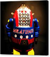 Mr. Atomic Tin Robot Canvas Print by Edward Fielding