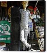 Mr Gas Pump Mechanic Canvas Print by Kim Galluzzo Wozniak