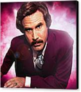 Mr. Ron Mr. Ron Burgundy From Anchorman Canvas Print