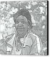 Ms. Ida  Canvas Print by Rosemarie E Seppala