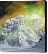 Mt. Hunter Aurora # Da 129 Canvas Print