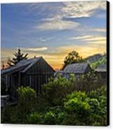 Mt Leconte Before Dawn Canvas Print by Debra and Dave Vanderlaan