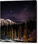 Mt. Rose Highway And Ski Resort At Night Canvas Print