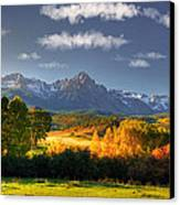 Mt Sneffels And The Dallas Divide Canvas Print by Ken Smith