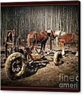 Mud Season - With Border Canvas Print