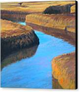 Mudflats Maze Canvas Print by Ed Chesnovitch