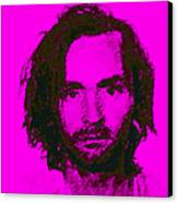 Mugshot Charles Manson M88 Canvas Print by Wingsdomain Art and Photography