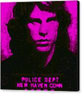 Mugshot Jim Morrison M88 Canvas Print by Wingsdomain Art and Photography