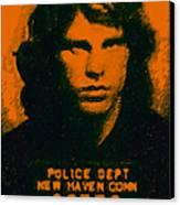 Mugshot Jim Morrison Canvas Print by Wingsdomain Art and Photography