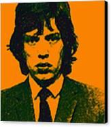 Mugshot Mick Jagger P0 Canvas Print by Wingsdomain Art and Photography