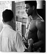 Muhammad Ali Coming Out Of Dressing Room Canvas Print