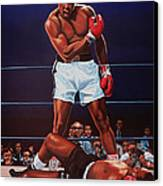 Muhammad Ali Versus Sonny Liston Canvas Print by Paul Meijering