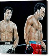 Muhammad Ali Vs George Foreman Canvas Print by Jim Fitzpatrick