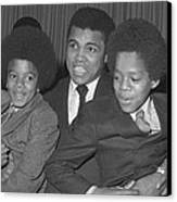 Muhammad Ali With Young Michael Jackson Canvas Print by Brian Douglas