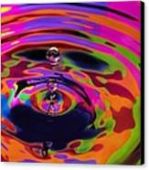 Multicolor Water Droplets 2 Canvas Print by Imani  Morales