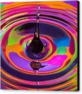 Multicolor Water Droplets 3 Canvas Print by Imani  Morales