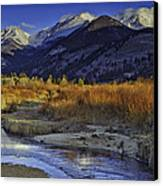 Mummy Range From Sheep Lakes Canvas Print by Tom Wilbert