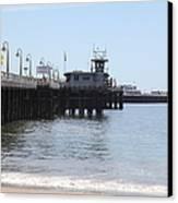Municipal Wharf At The Santa Cruz Beach Boardwalk California 5d23767 Canvas Print