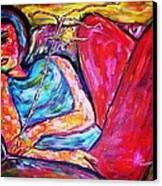 Muse Canvas Print by Linda Vaughon