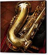 Music - Brass - Saxophone  Canvas Print by Mike Savad