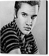 Music Legends Elvis Canvas Print by Andrew Read