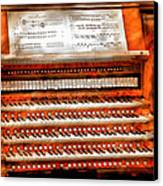 Music - Organist - The Pipe Organ Canvas Print by Mike Savad