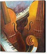 Music Relief Canvas Print by Paula Marsh
