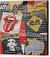Music Street Art Color Canvas Print
