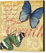 Musical Butterflies 3 Canvas Print