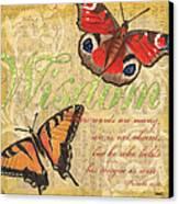 Musical Butterflies 4 Canvas Print