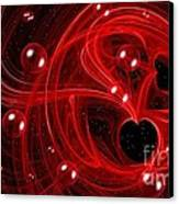 My Cosmic Valentine Canvas Print by Peggy Hughes