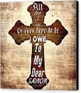 My Dear Savior Canvas Print by Michelle Greene Wheeler