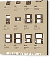 My Evolution Nintendo Game Boy Minimal Poster Canvas Print